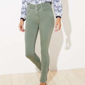 NWT LOFT High Rise Slim Pocket Skinny Jeans